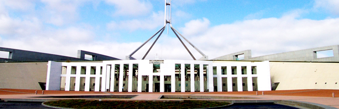 Picture of Parliament House, Canberra
