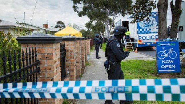 An anti-terror raid in Victoria last year. Craig Sillitoe