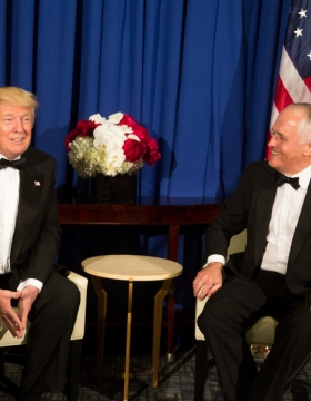 James Clapper and Malcolm Turnbull