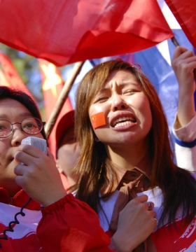Beijing Olympic torch relay protests