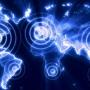 Stylised global cyber map