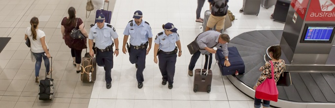AFP officers patrolling airport