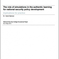 The role of simulations in the authentic learning for national security policy development