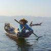 Fisherman looking at the horizon